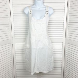 NWT American Eagle Skirt Tail White Overalls large